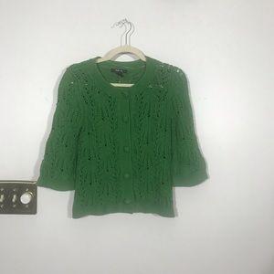 STYLE & CO Green Lacy Cardigan, size Medium